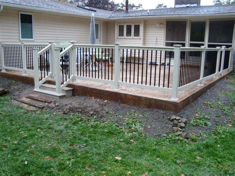concrete patio railing ideas 28 images concrete front