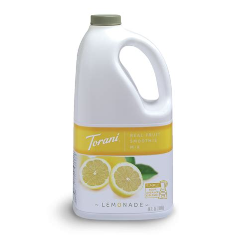 Torani Real Fruit Lemonade Smoothie Mix   64 oz. Bottle(s): BaristaProShop.com