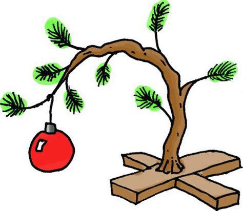 large charlie brown christmas tree tree town turf brown tree