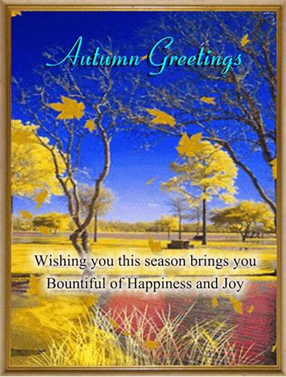 Autumn Card Greetings Friends Fall Greeting Cards
