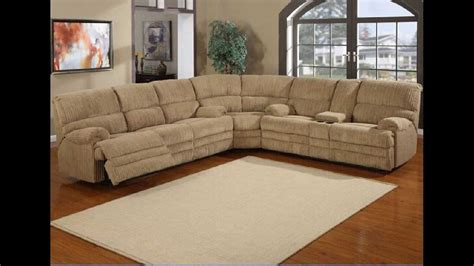 pc denton hazel cordy fabric upholstered sectional sofa  recliners youtube