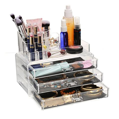 acrylic makeup drawers acrylic makeup organizer display stand cosmetic organizer