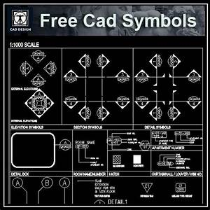 Free Cad Standard Symbols  U2013 Architectural Autocad Drawings Blocks Details Download Center