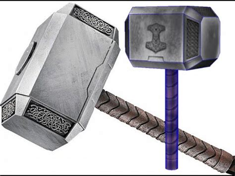 thor 39 s hammer papercraft free download youtube