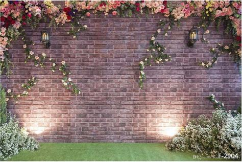 curtains green 2017 10x6ft vintage brick flower wall backdrop wedding