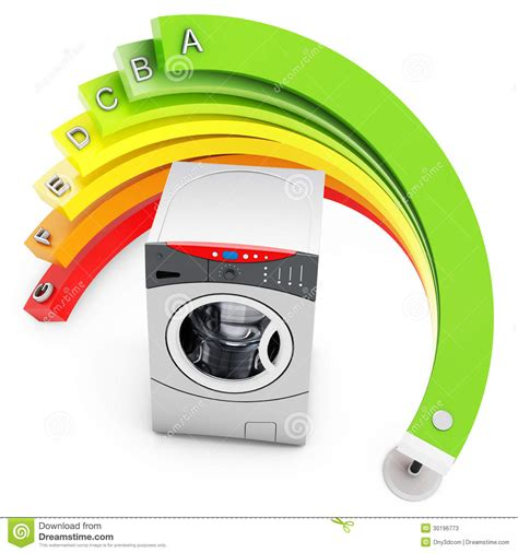 energy efficiency concept  washing machine stock  image