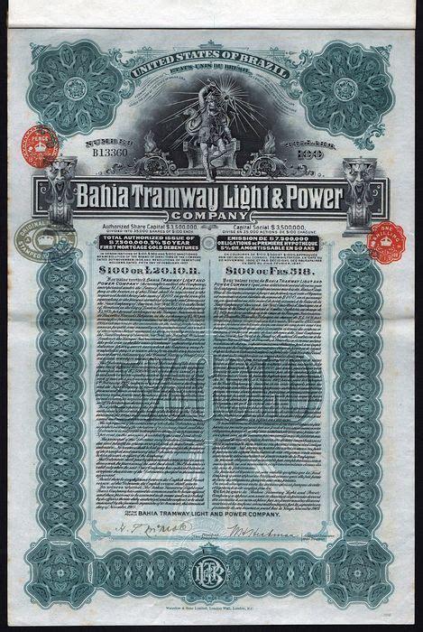 usa light coupon code brazil usa 1905 bahia tramway light power uncancelled