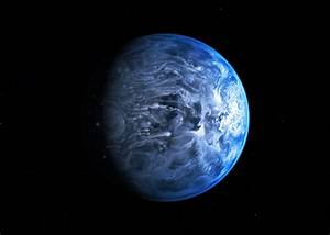 Blue exoplanet: Hubble sees color of an alien world.