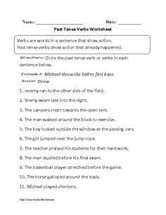 verbs worksheets images verb worksheets