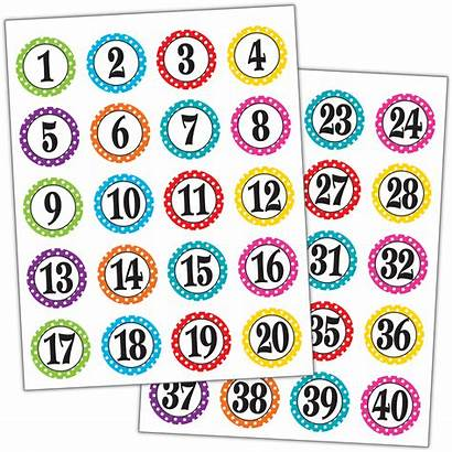 Numbers Dots Stickers Polka Magnetic Accents Labels
