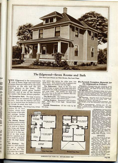 gordon van tine  bump  drawing house plans kit homes craftsman house plans