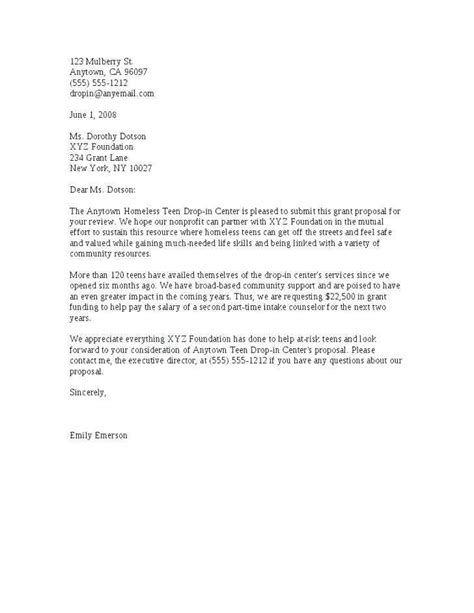 profit grant proposal cover letter   write