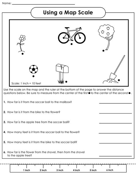 map scale worksheet 4th grade social studies