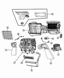 2007 Jeep Wrangler Housing  Blower Motor  Heater  Evaporator  Drain