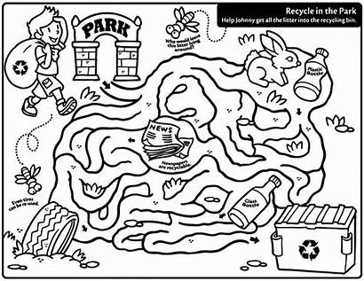 Recycling Coloring Pages Activity Worksheets Earth Fun