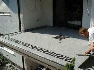 Boden Für Terrasse : schnelle saubere balkon treppe terrasse boden renovierung mit edlem marmorkiesel ~ Orissabook.com Haus und Dekorationen