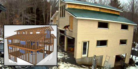Watch One Guy Build A Three-car, Four-story Garage In Four