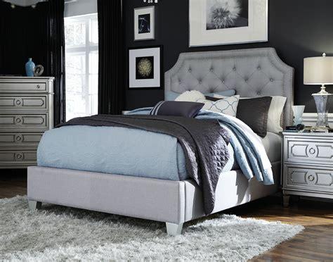 majik windsor queen upholstered bed dresser mirror