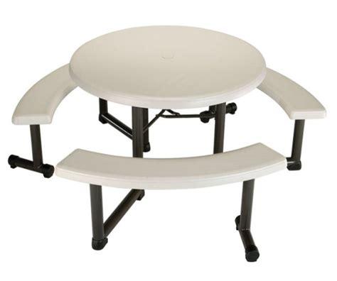 lifetime round picnic table lifetime picnic table 22127 almond 44 quot round top