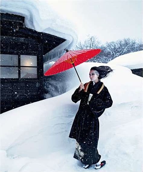 winter wonderland photoshoots winter fashion  japan