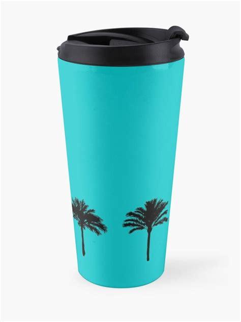 set palm trees silhouette travel mug  kajaniko   palm tree silhouette tree