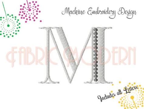 fancy  color monogram font embroidery small size bx