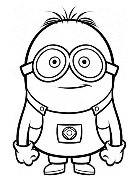 despicable   tom googly eyes coloring page despicable