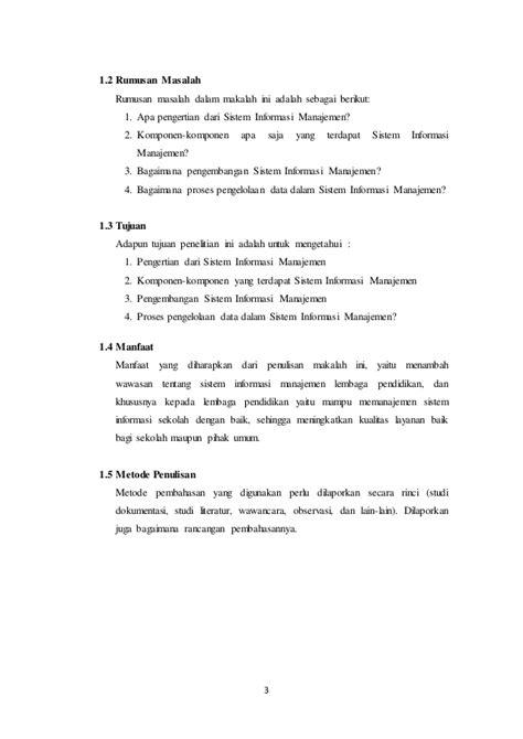 Sistem informasi manajemen (artikel)