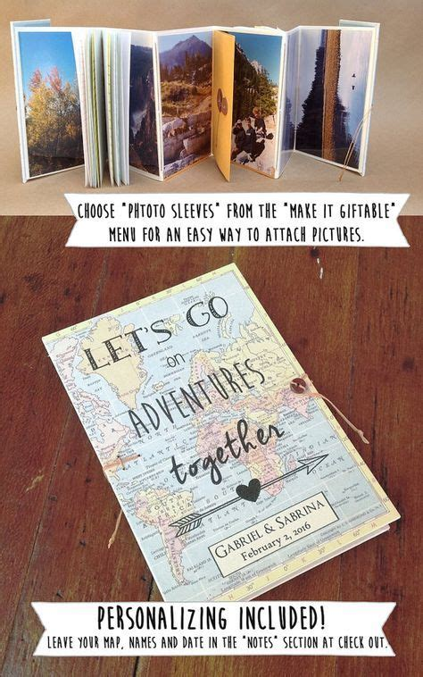 personalisierte geschenke beste freundin book of adventures personalized travel journal for your spouse boyfriend or