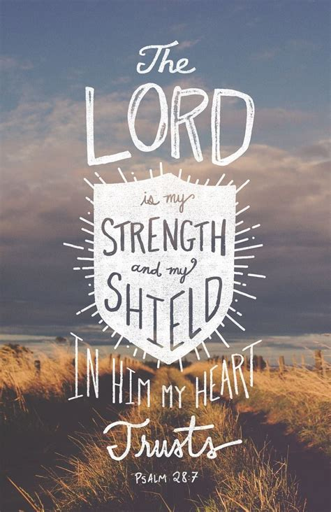 word typographic verses  lord   strength