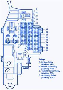 Toyota Mr2 2004 Under The Dash Fuse Box  Block Circuit
