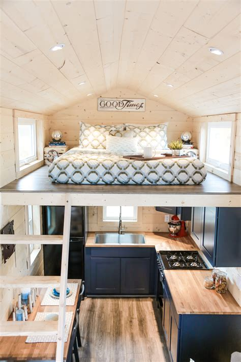 Home Design For Small Homes by Tiny Home On Wheels With Two Sleeping Lofts