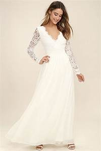 white long sleeve lace maxi dress wedding hive shop With long sleeve maxi dresses for weddings