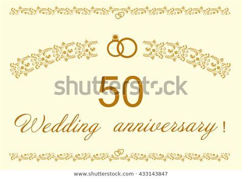 50th Wedding Anniversary Invitation Stock Vector (Royalty
