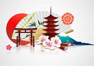 Japan style elements vector graphics 02 - Vector Other ...
