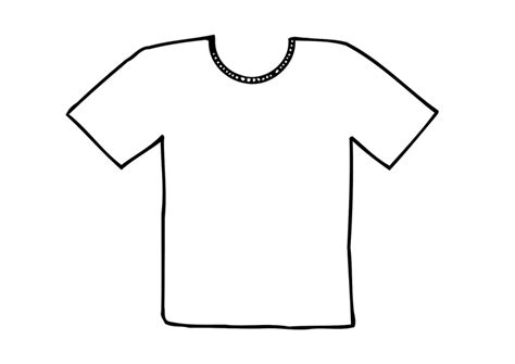 Coloring T Shirt by Coloring Page T Shirt Img 12295 Clipart Best