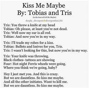 Tris and Tobias Kissing | Divergent Tris And Four Kiss ...
