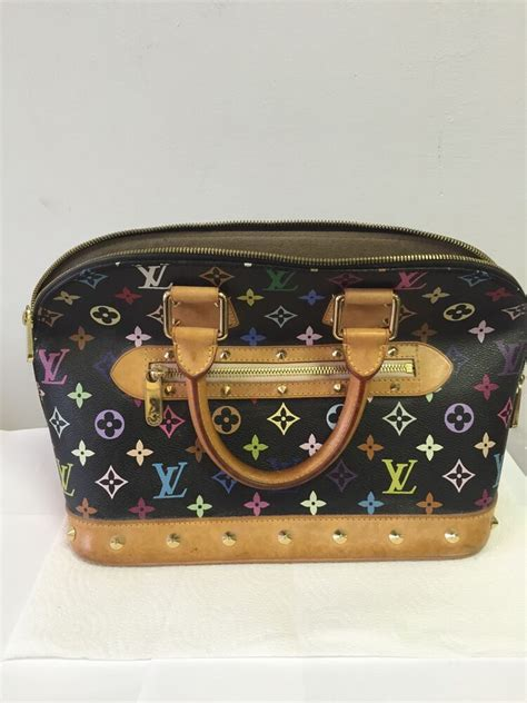 auth louis vuitton monogram multi color alma hand purse ebay