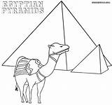 Egypt Egyptian Coloring Pyramids Pages Drawing Getdrawings sketch template