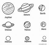 Planets Planet Coloring Pages Solar System Drawing Printable Space Sheets Cool2bkids Child Scale Relative Collection Outline Print Drawings Templates Nine sketch template