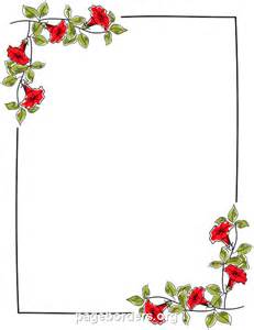 Flower Page Border Microsoft Word Templates