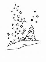 Coloring Pages Night Star Sky Superhero Million Winter Stars Clear Printable Colored Template Similar sketch template
