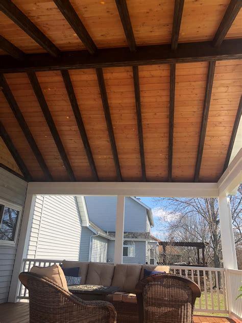 roof decking center match stained purlins zuri fir