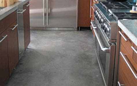 cement kitchen floors concrete kitchen floor info insights good questions apartment therapy