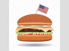 Burger with usa flag Vector Image 1502639 StockUnlimited