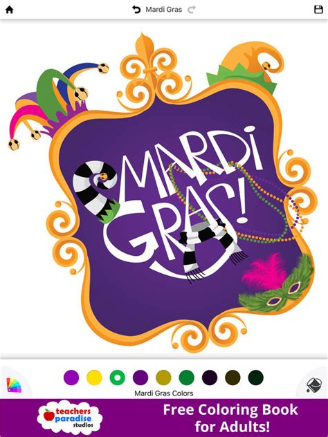 app shopper coloring book  adults mardi gras fat