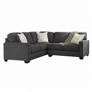 Ashley alenya 2 piece left facing sectional in charcoal for Alenya 2 piece sofa sectional in charcoal