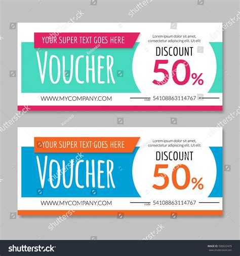 discount voucher certificate gift card design stock vector