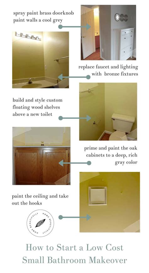 Bathroom Makeover Cost by How To Start A Low Cost Small Bathroom Makeover