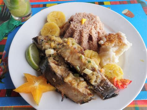 snack cuisine caribbean food in guadeloupe